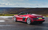 Audi R8 Spyder 2019 UK first drive review - static rear