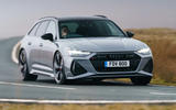 Audi RS6 2020 UK first drive review - cornering front