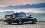 BMW 5 Series M550i 2020 UK first drive - static rear