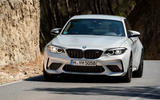 BMW M2 Competition 2018 first drive review cornering front