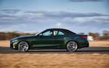 17 BMW M440i Convertible 2021 first drive review roof up on road side
