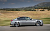 BMW M5 Competition 2018 first drive review on the road side