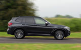 BMW X3 M40i 2018 UK review on the road side