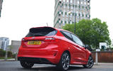 Ford Fiesta ST-Line 2018 long-term review parked rear