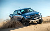Ford Ranger Raptor 2019 first drive review - sand front