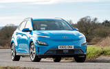 17 Hyundai Kona Electric 2021 UK first drive review cornering front