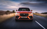17 Jaguar F Pace SVR 2021 UK first drive review on road nose