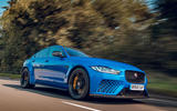 Jaguar XE SV Project 8 Touring 2019 UK first drive review - on the road front
