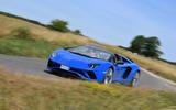Lamborghini Aventador S 2018 first drive review cornering front