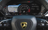 Lamborghini Urus 2018 UK first drive review digital instrument cluster