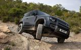 17 Land Rover Defender V8 2021 UK FD offroad front