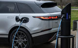 17 Land Rover Range Rover Velar PHEV 2021 UK first drive review charging