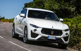 Maserati Levante Gransport 2018 UK first drive review cornering front