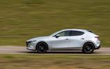17 Mazda 3 e Skyactiv X 2021 UK fd tracking side