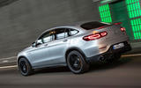Mercedes-AMG GLC 63 S Coupé 2019 first drive review - on the road rear