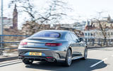 Mercedes-Benz S560 Coupe 2018 UK review on the road rear