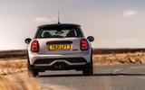 17 Mini Cooper S 2021 UK FD on road rear
