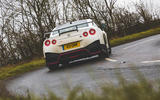 Nissan GT-R Nismo 2020 UK first drive review - cornering rear