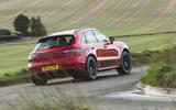Porsche Macan GTS 2020 UK first drive review - cornering rear