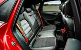 17 Porsche Macan GTS 2021 UK LHD first drive rear seats
