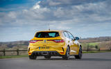 Renault Megane RS 300 Trophy 2019 UK first drive review - cornering rear