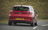 17 Seat Leon estate FR 2021 UK first drive review cornering rear