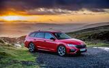 Skoda Octavia vRS Estate 2020 UK first drive review - static