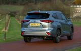 17 Toyota Highlander 2021 UK first drive review on road rear