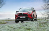 17 Toyota RAV4 PHEV 2021 UK first drive review on road front