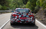 Toyota Supra 2019 prototype first drive review road rear