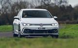17 Volkswagen Golf GTD 2021 UK first drive review cornering front