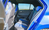 17 Volkswagen Golf R 2021 UK first drive review rear seats