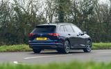 17 VW Golf Estate 2021 UK FD on road rear
