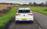 17 VW Golf GTI Clubsport 2021 UK first drive review on road rear