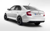 Skoda Rapid from rear