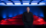 Gorden Wagener, Mercedes-Benz's chief design officer standing before the Aesthetics A sculpture