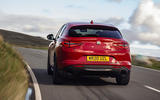 Alfa Romeo Stelvio Sprint 2020 UK first drive review - on the road rear