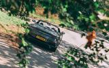 Aston Martin DBS Superleggera Volante 2019 UK first drive review - cornering rear
