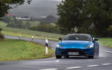Aston Martin Vantage manual 2019 first drive review - cornering front