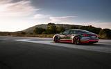 Audi RS E-tron GT 2021 prototype drive - static rear
