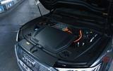 18 Audi E tron S Sportback 2021 UK first drive review bonnet