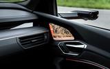Audi E-tron S Sportback 2020 first drive review - rear view monitor