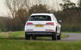 Audi Q5 40 TDI Sport 2020 UK first drive review - cornering rear