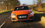 Audi TT Coupe 2019 UK first drive review - on the road nose