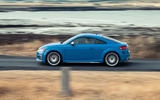 Audi TTS 2018 first drive review on the road left