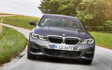 BMW 3 Series 330e 2019 first drive review - cornering nose