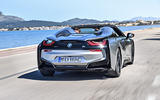 BMW i8 Roadster 2018 first drive review on the road rear