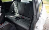 BMW M2 CS 2020 UK first drive review - rear seats