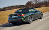 18 BMW M440i Convertible 2021 first drive review roof up on road rear