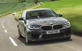 18 BMW M5 CS 2021 UK FD on road front